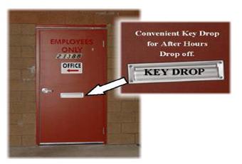 Convenient Key Drop